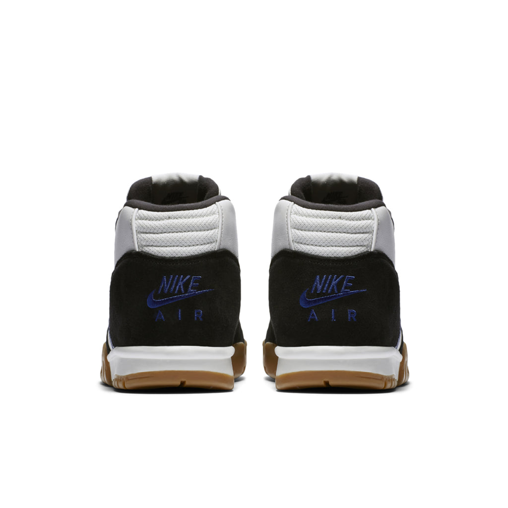 Nike SB x Polar Skate Co Air Trainer 1 Shoes in Black / Black - Deep Royal Blue - Summit White - Heel