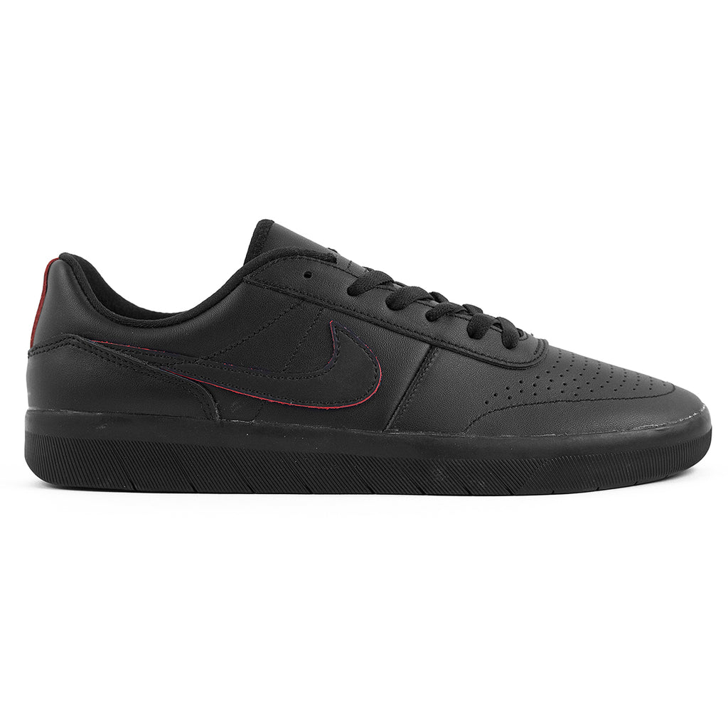 Nike SB Team Classic Premium Shoes in Black / Black / University Red - Pacific Blue