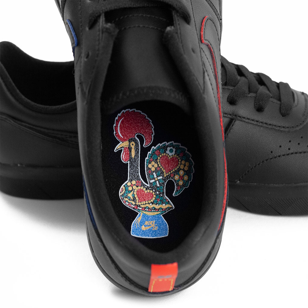 Nike SB Team Classic Premium Shoes in Black / Black / University Red - Pacific Blue - Innersole