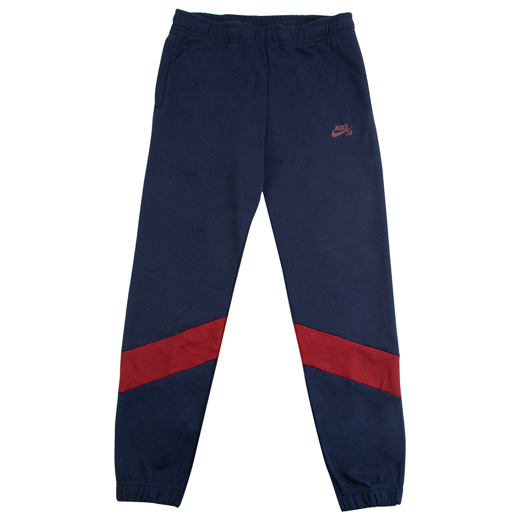 Nike SB Dri-FIT Icon Skate Track Pants in Obsidian / Team Red / Osidian / Team Red