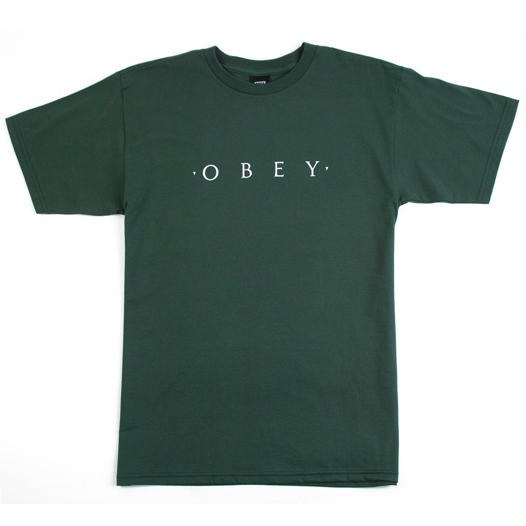 Obey Clothing Novel Obey T Shirt in Forest Green