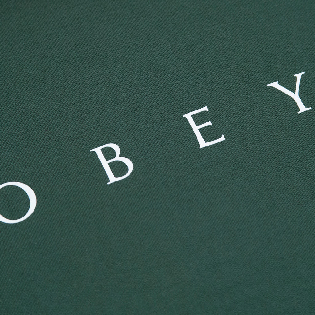 Obey Clothing Novel Obey T Shirt in Forest Green - Logo