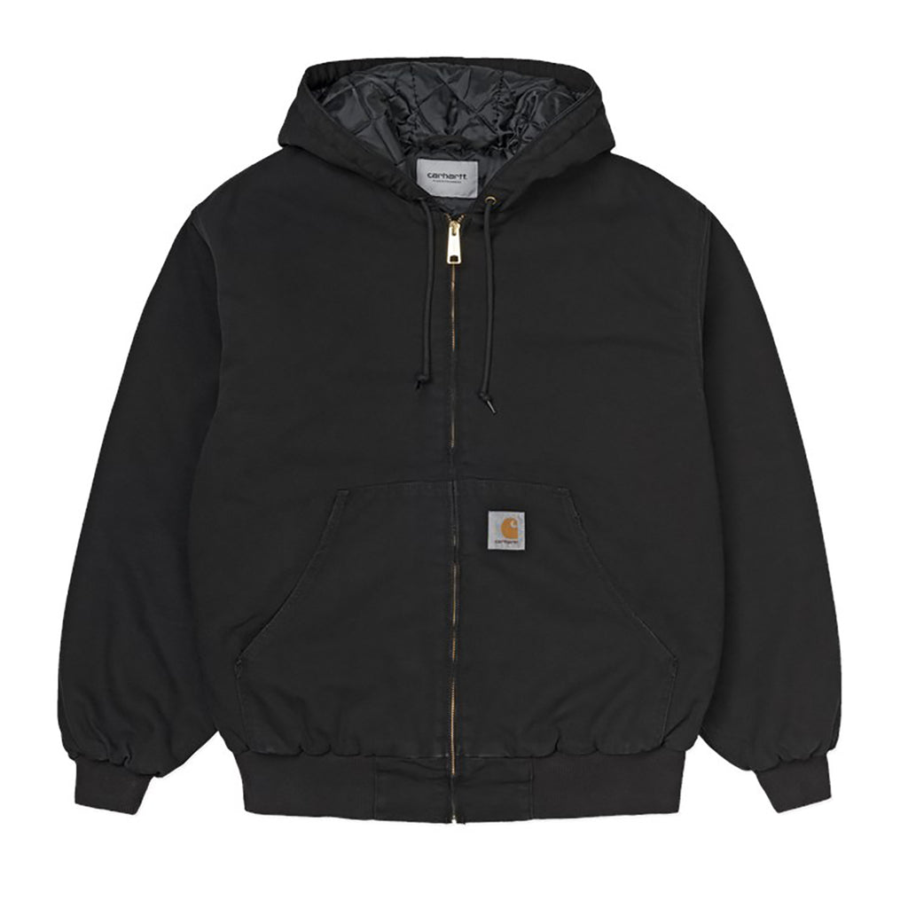 Carhartt WIP OG Active Jacket in Black Aged Canvas