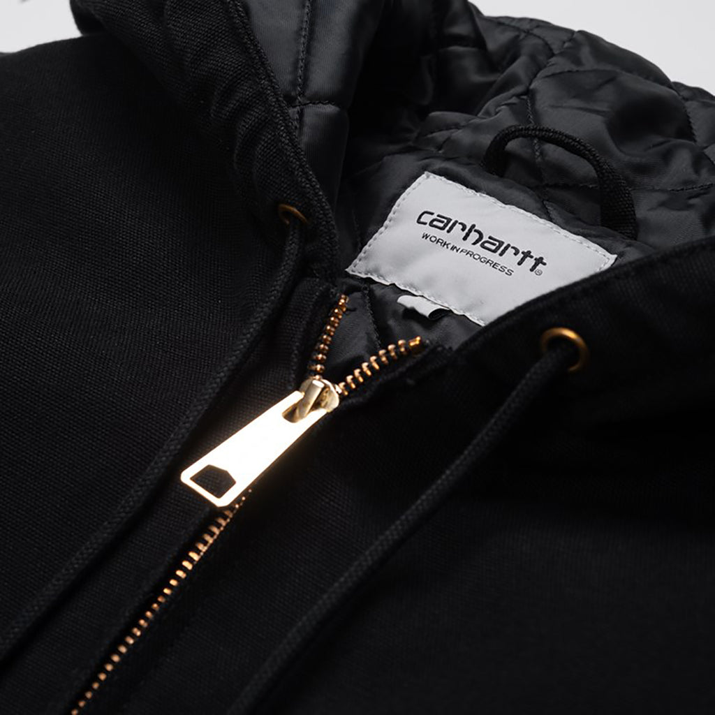 Carhartt WIP OG Active Jacket in Black Aged Canvas - Detail