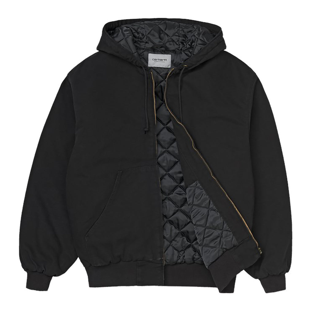 Carhartt WIP OG Active Jacket in Black Aged Canvas - Open