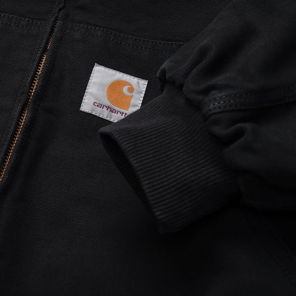 Carhartt WIP OG Active Jacket in Black Aged Canvas - Label