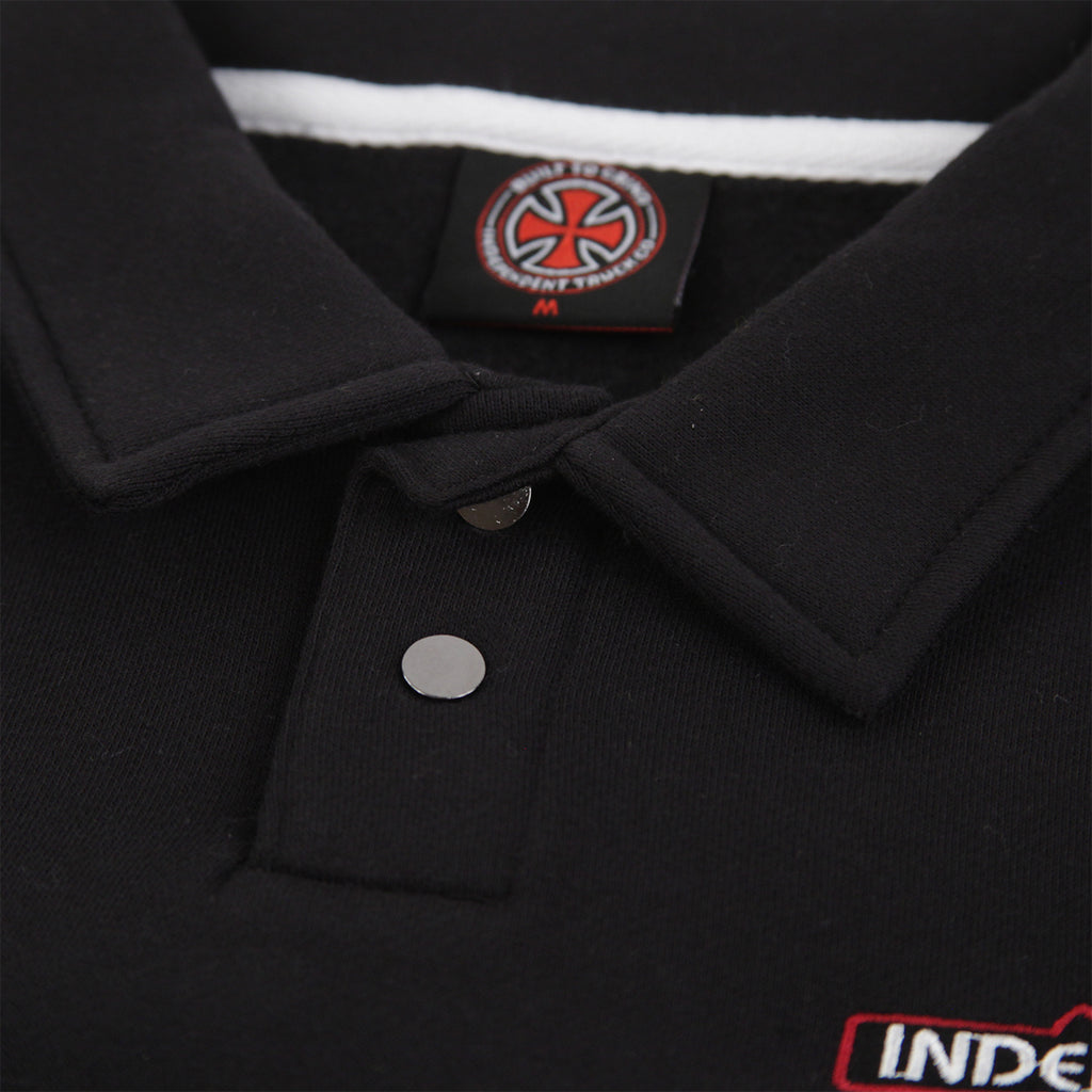 Independent Trucks O.G.B.C Embroidered Polo Crew in Black - Collar