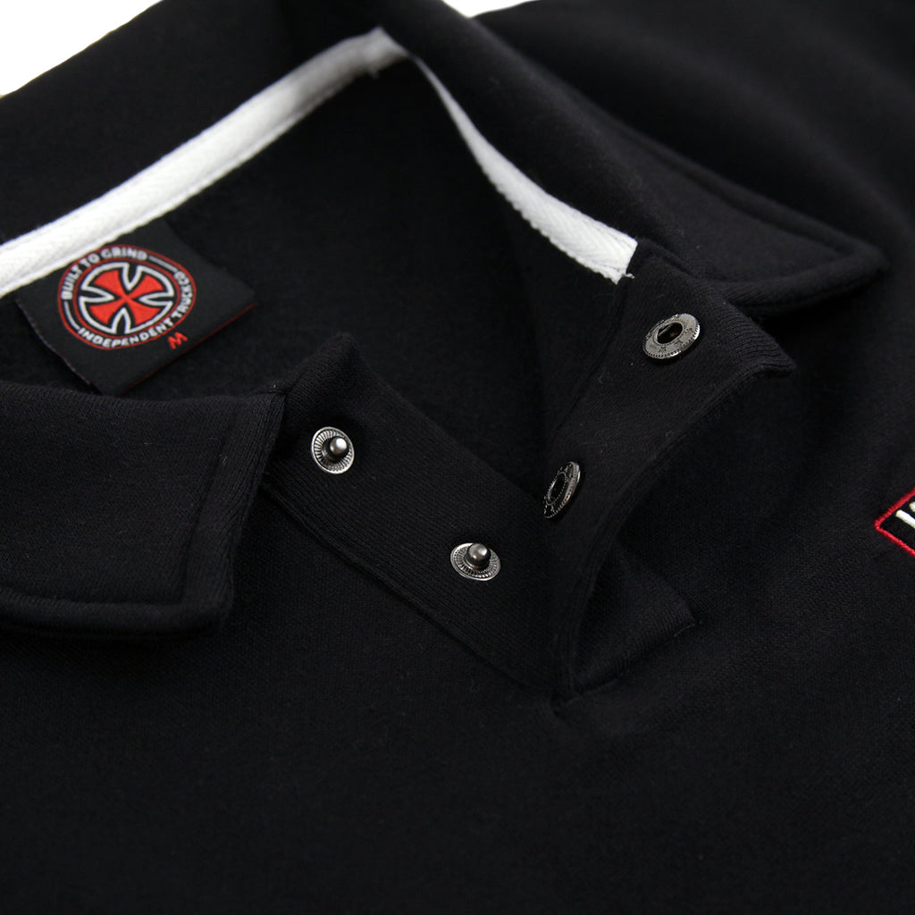 Independent Trucks O.G.B.C Embroidered Polo Crew in Black - Poppers