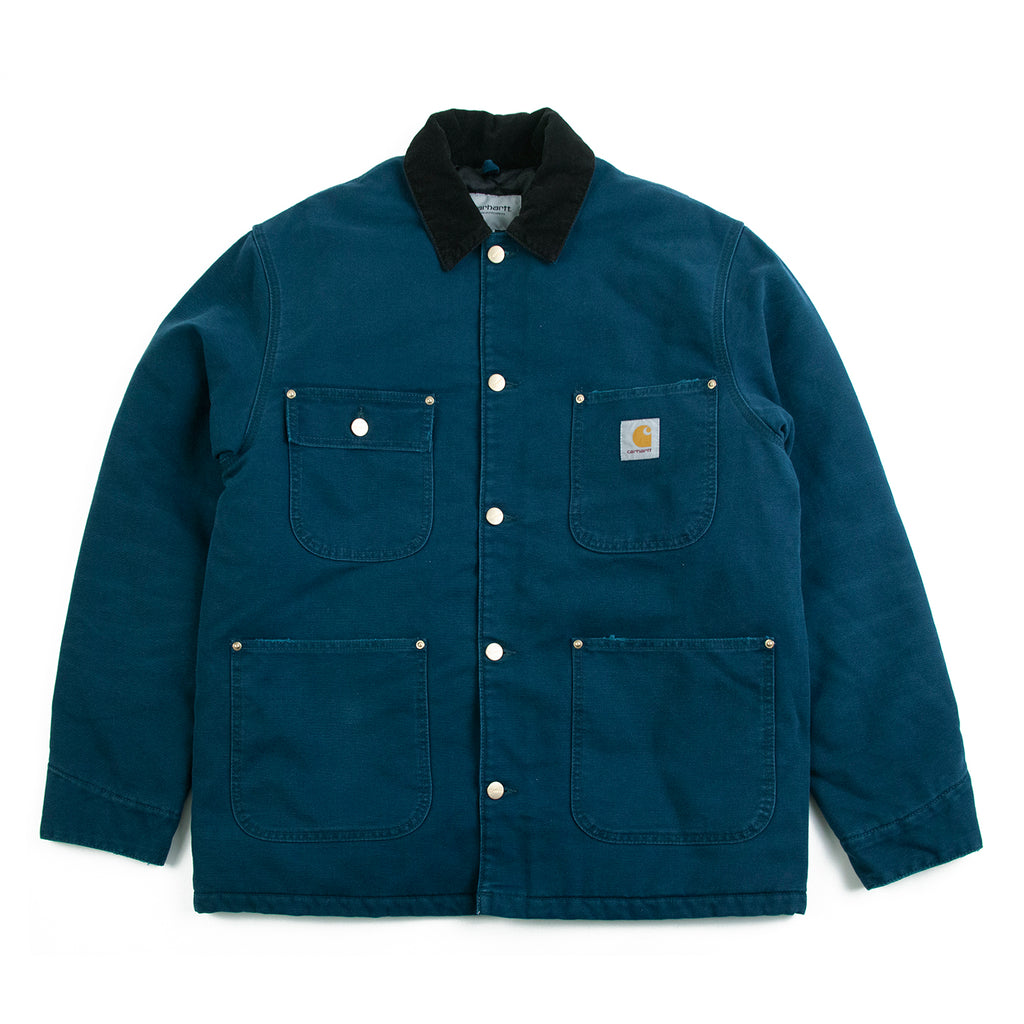 Carhartt WIP OG Chore Coat in Duck Blue / Black