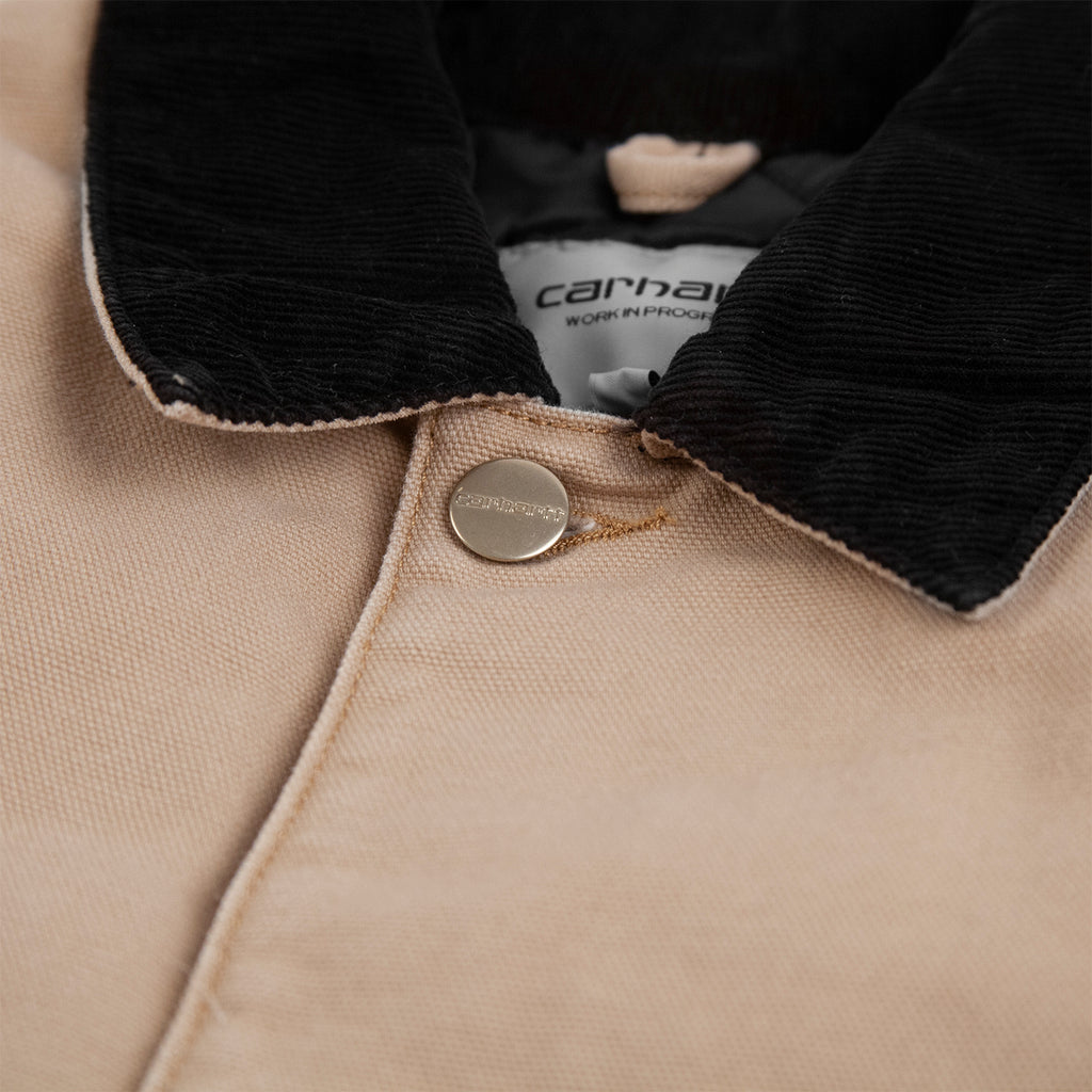 Carhartt WIP OG Chore Coat in Dusty H Brown - Collar 2