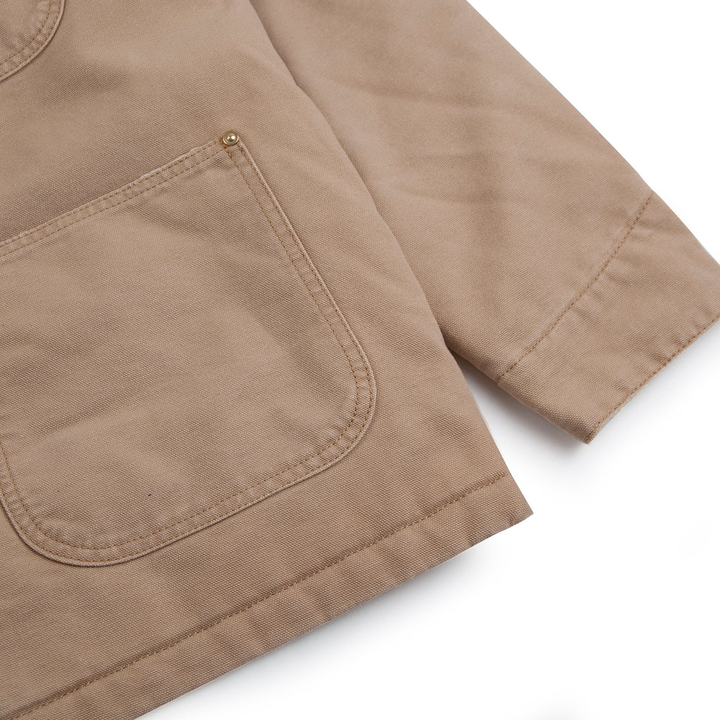 Carhartt WIP OG Chore Coat in Dusty H Brown - Cuff