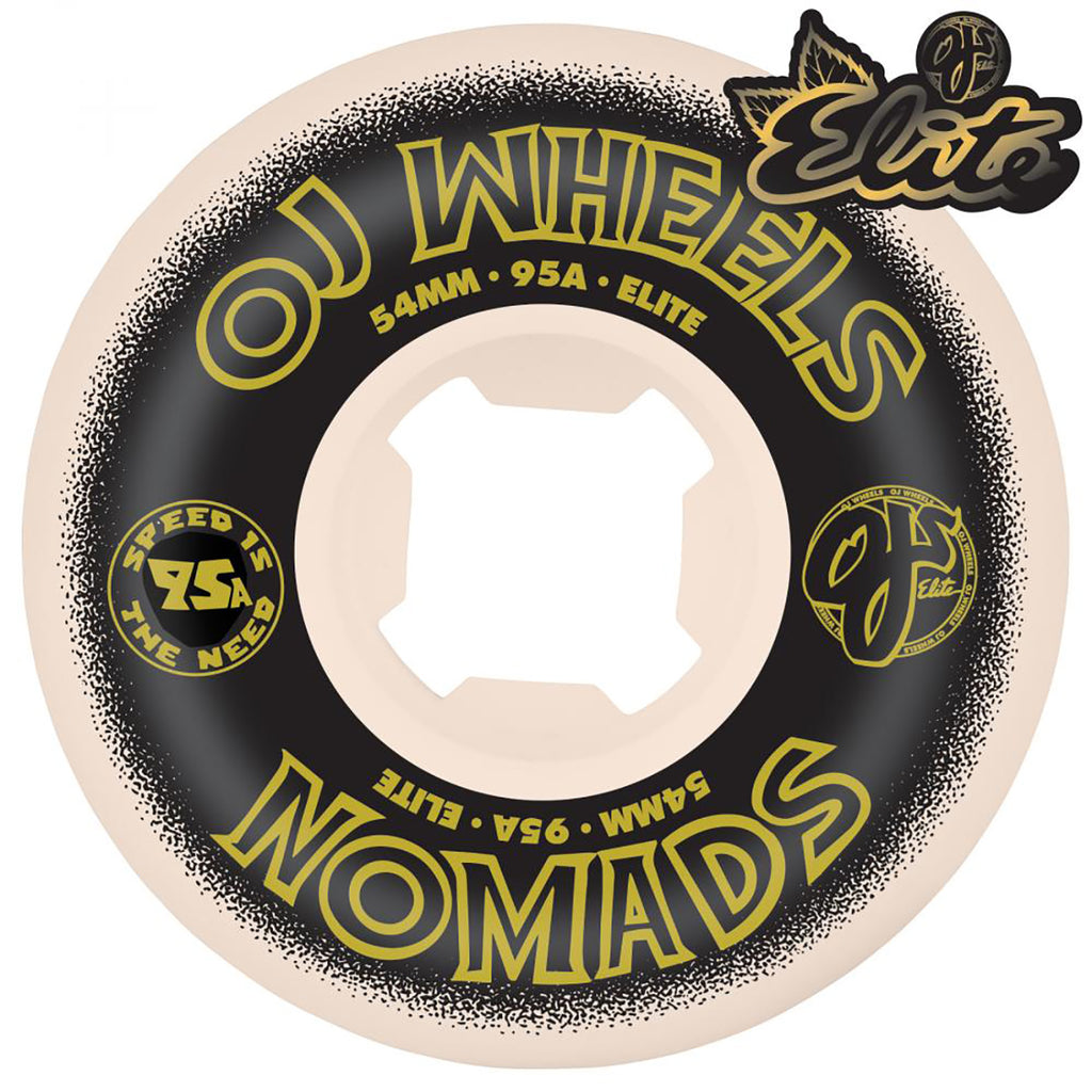 Plain Nomads 95a Wheels in 54mm by OJ Wheels - Graphic