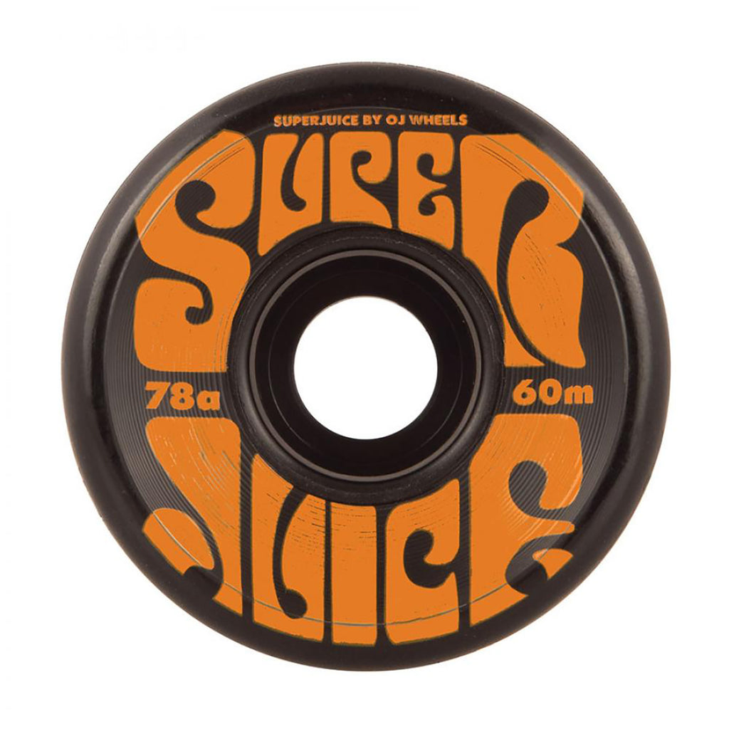 OJ Wheels Super Juice 78a Black Soft Wheels in 60mm - Front