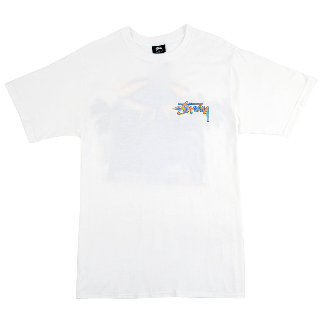 Stussy Oasis T Shirt in White - Front
