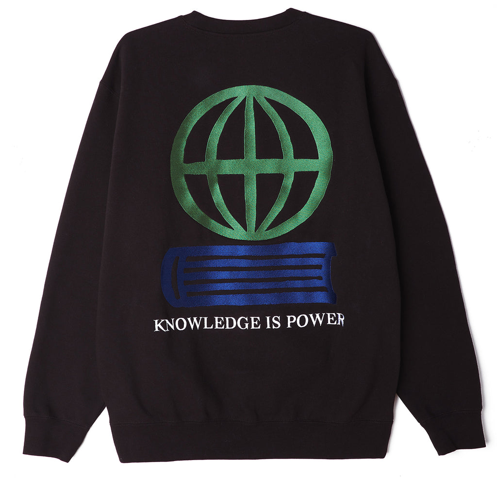 Obey Knowledge Crew Sweatshirt in Black