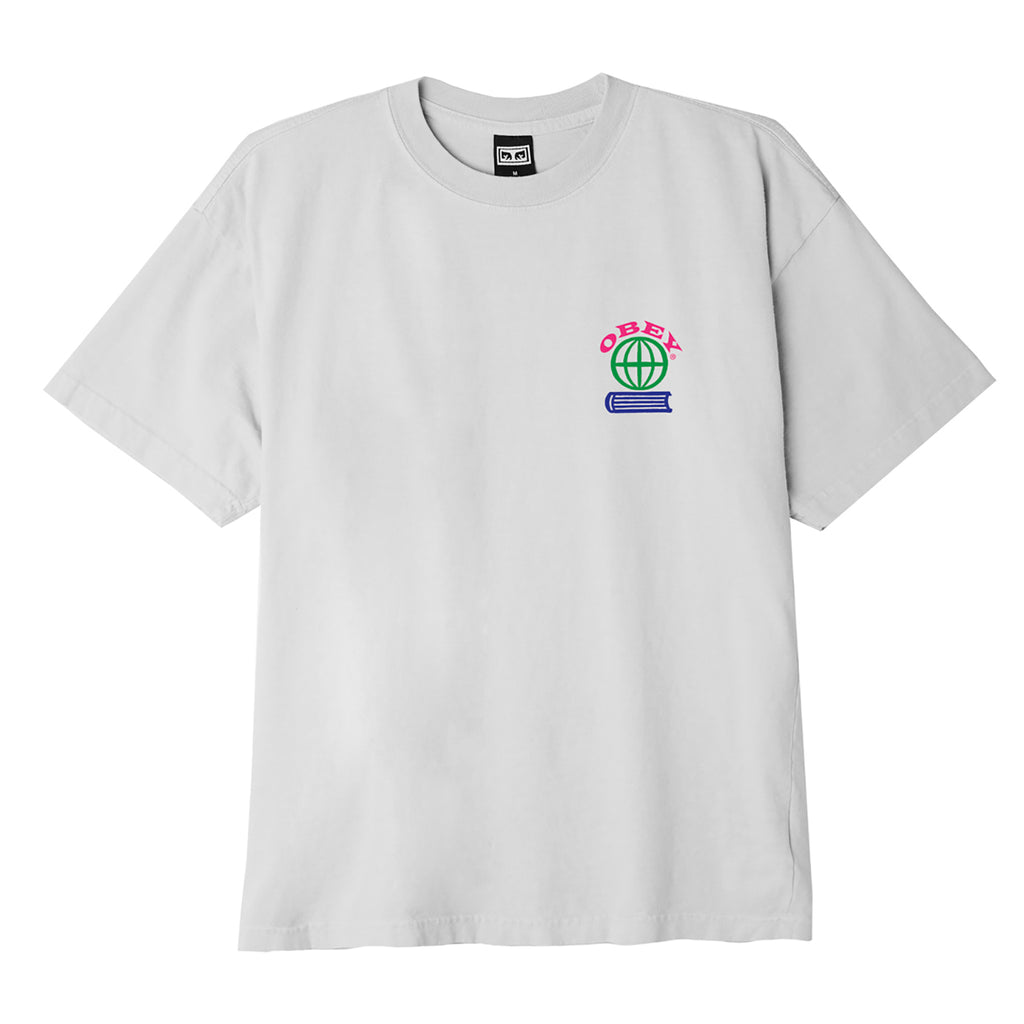 Obey Clothing Knowledge Is Power T Shirt in White  - Front