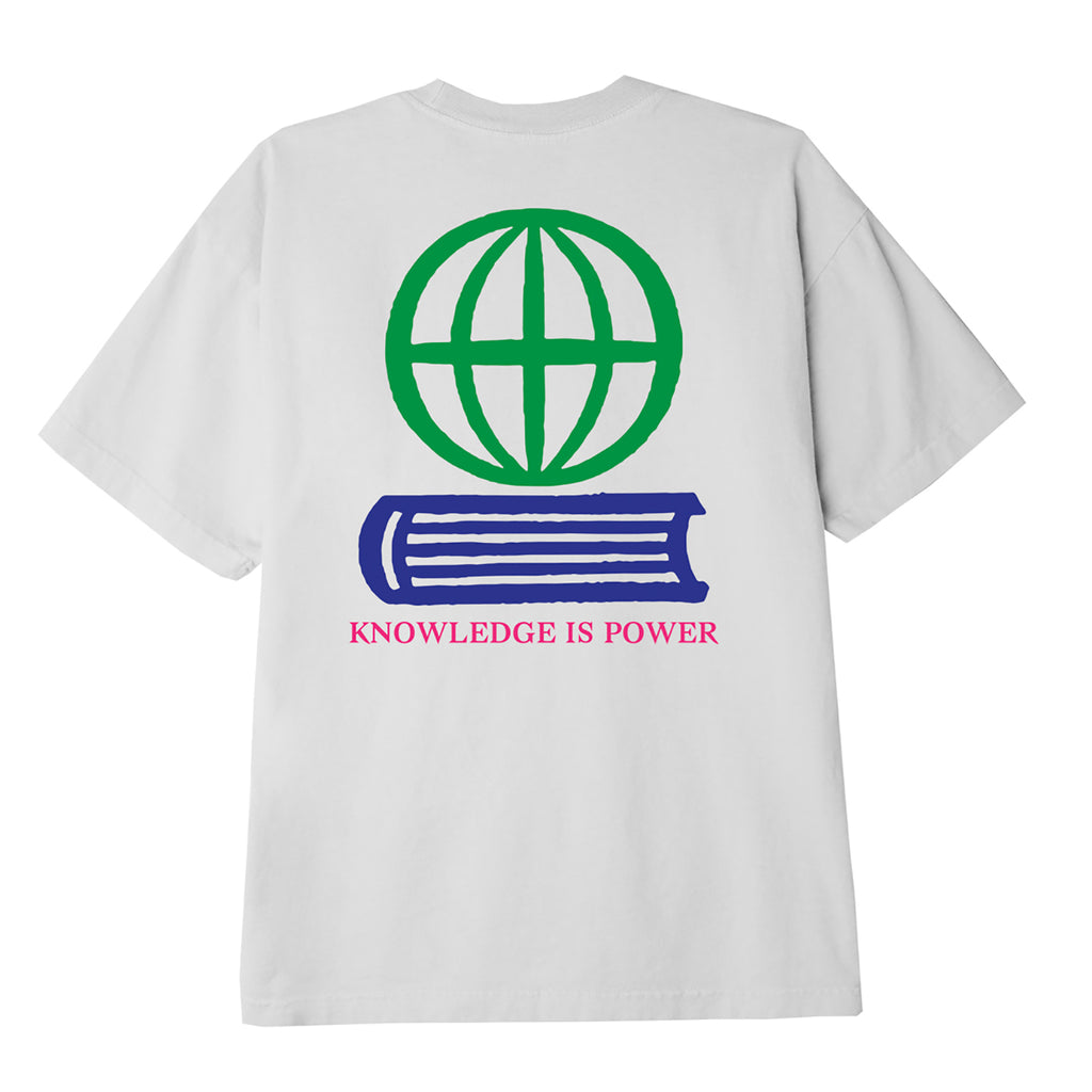 Obey Clothing Knowledge Is Power T Shirt in White
