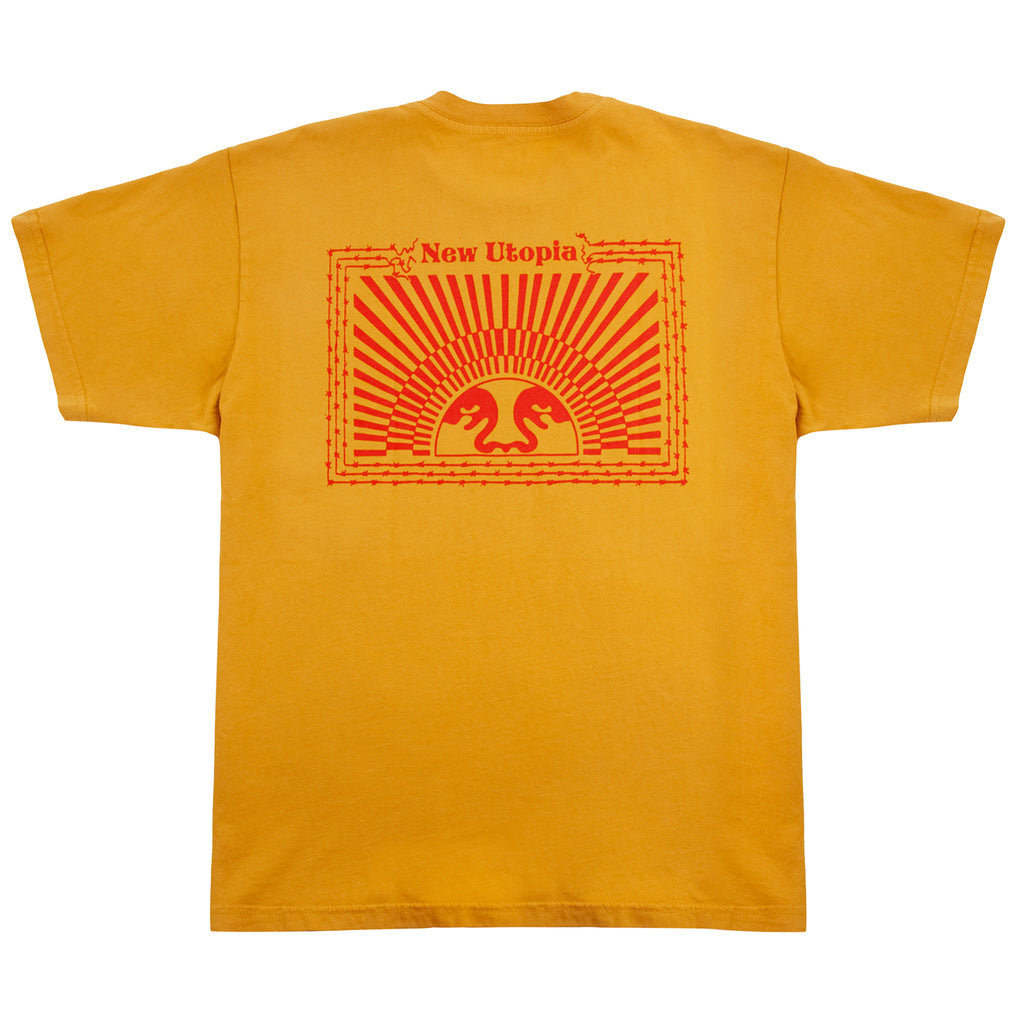 Obey Clothing New Utopia T Shirt - Maple Leaf