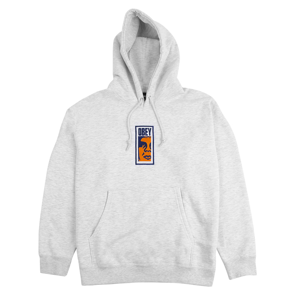 Obey Clothing Slim Icon Hoodie in Ash Grey
