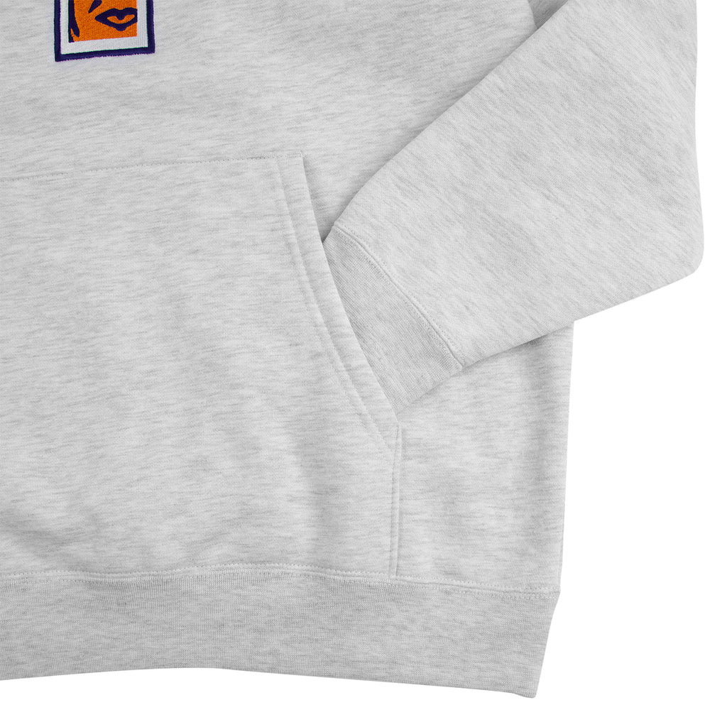 Obey Clothing Slim Icon Hoodie in Ash Grey - Sleeve