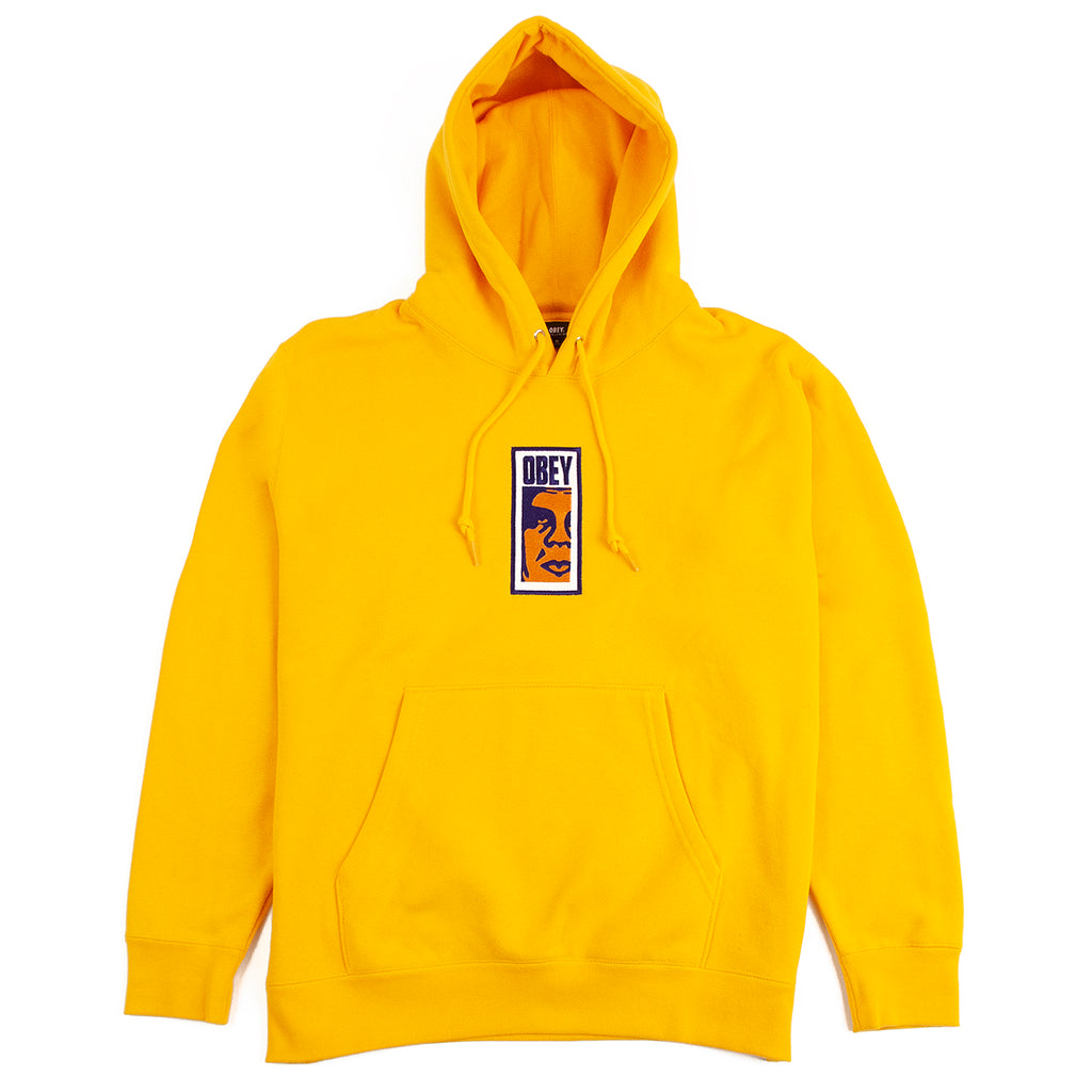 Obey Clothing Slim Icon Hoodie in Gold