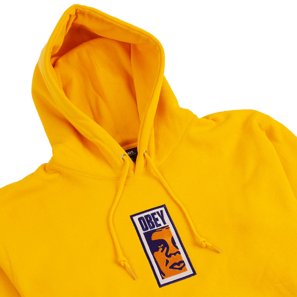 Obey Clothing Slim Icon Hoodie in Gold - Detail