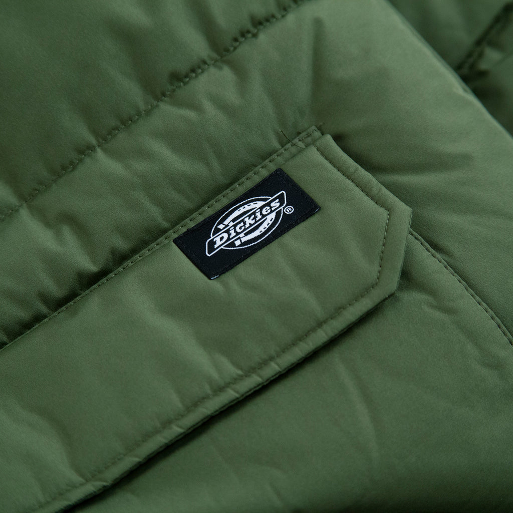 Dickies Olaton Jacket in Army Green - Label
