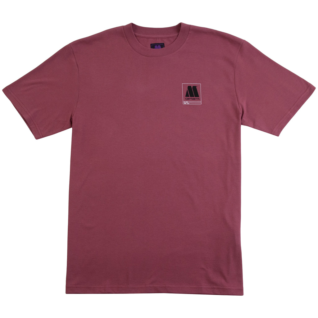 Carhartt WIP x Motown Orderform T Shirt in Dusty Fuchsia