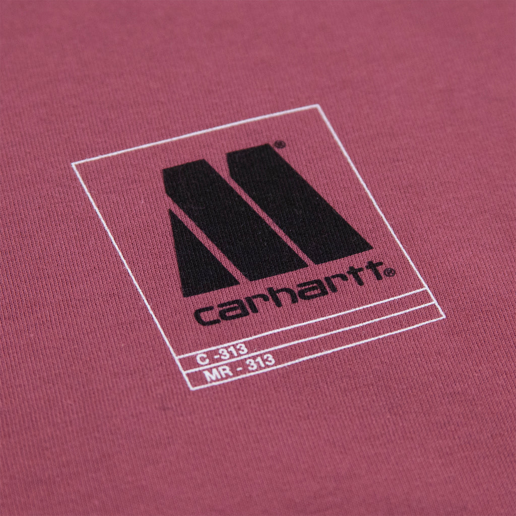 Carhartt WIP x Motown Orderform T Shirt in Dusty Fuchsia - Logo