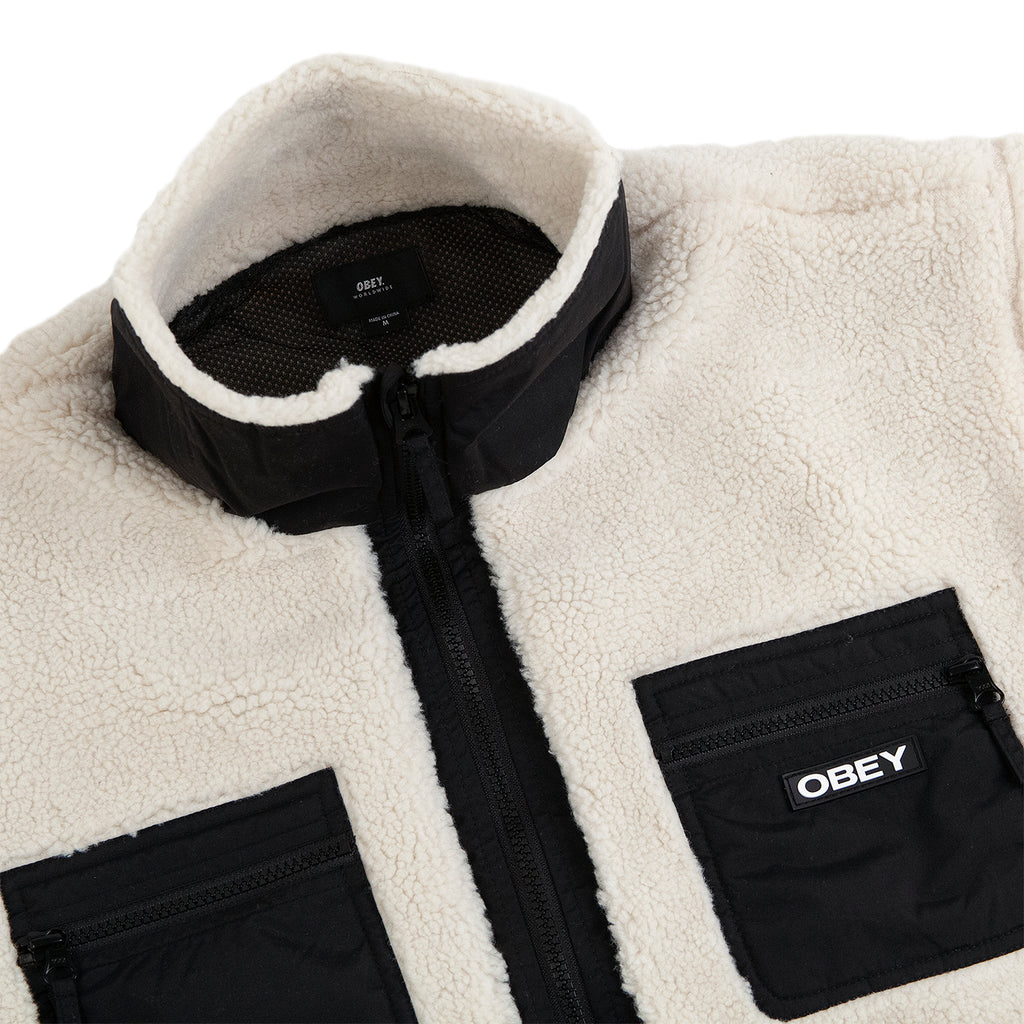 Obey Clothing Out There Sherpa Jacket in Natural