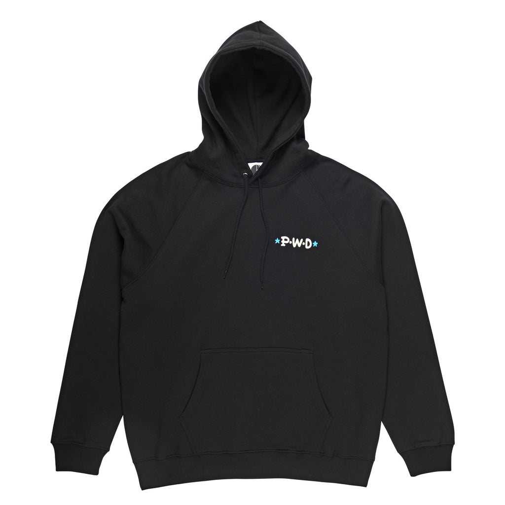 Polar Skate Co P.W.D Hoodie in Black - Front