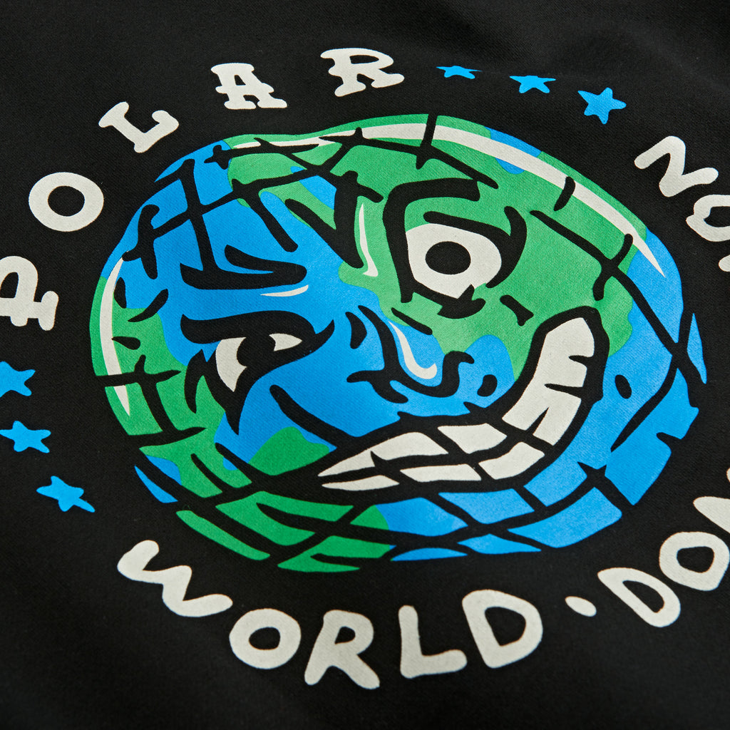 Polar Skate Co P.W.D Hoodie in Black - Print