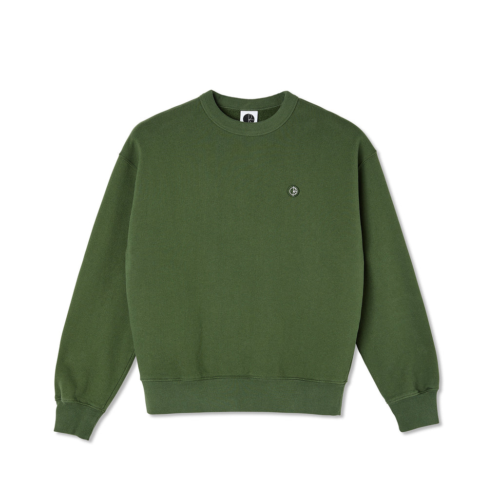 Polar Skate Co Patch Crewneck in Hunter Green