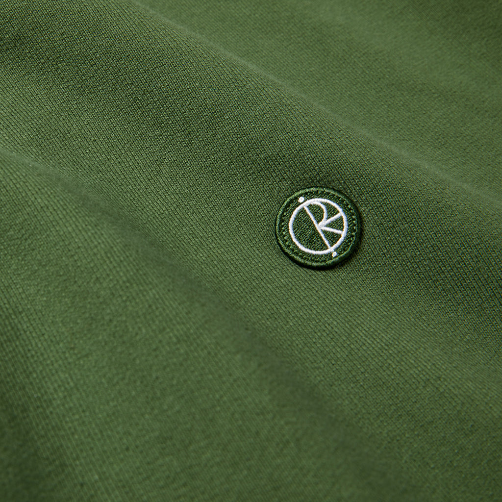 Polar Skate Co Patch Crewneck in Hunter Green - Detail