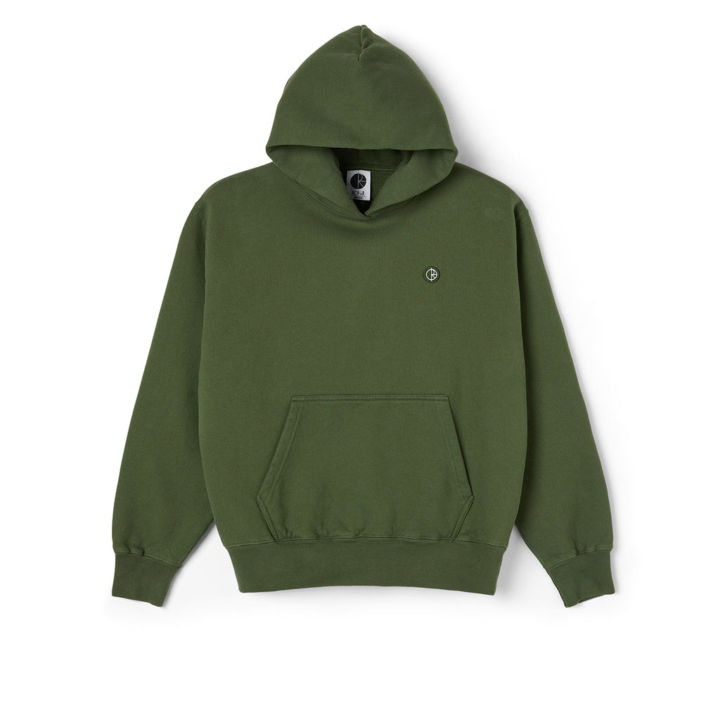 Polar Skate Co Patch Hoodie in Hunter Green