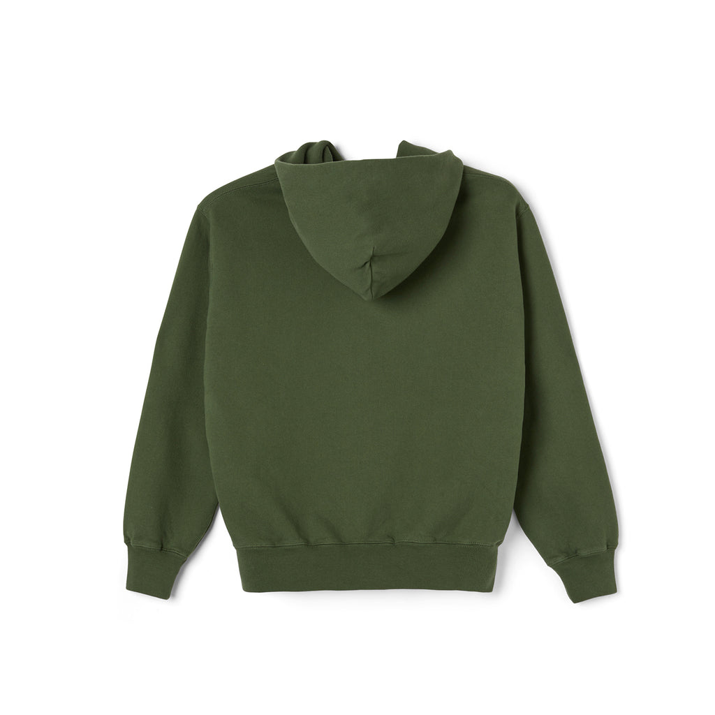 Polar Skate Co Patch Hoodie in Hunter Green - Back
