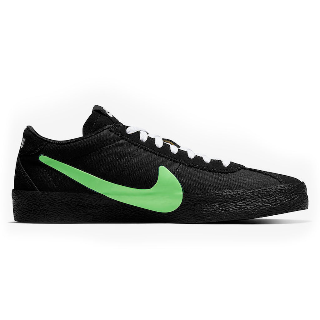 Nike SB x Poets Zoom Bruin QS Shoes in Black / Voltage Green - White