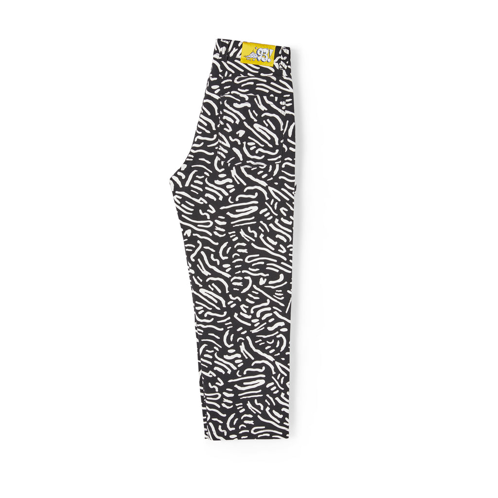 Polar Skate Co 93 Canvas Cell Pants in Black - Leg