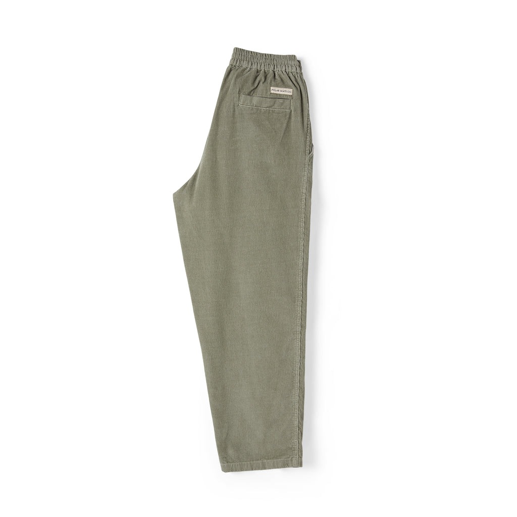 Polar Skate Co Cord Surf Pants in Smoke - Leg