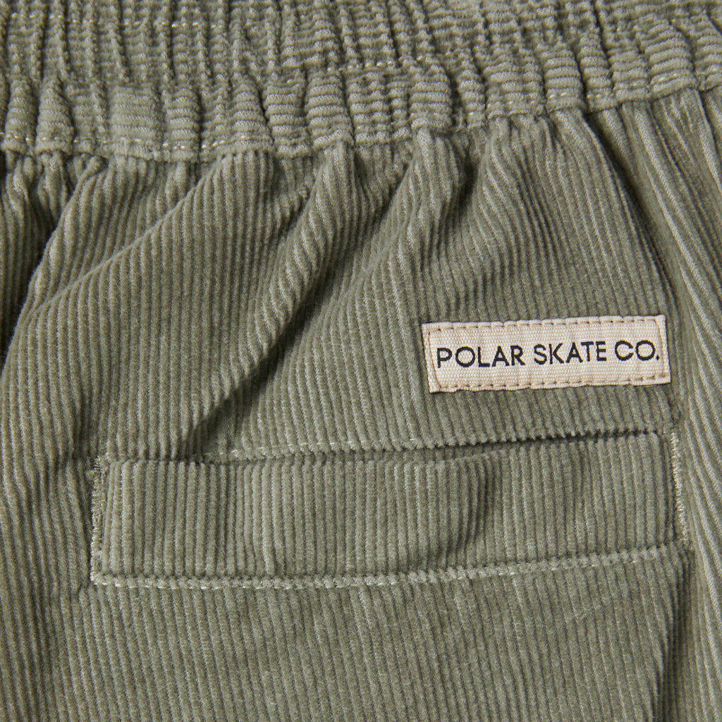 Polar Skate Co Cord Surf Pants in Smoke - Label