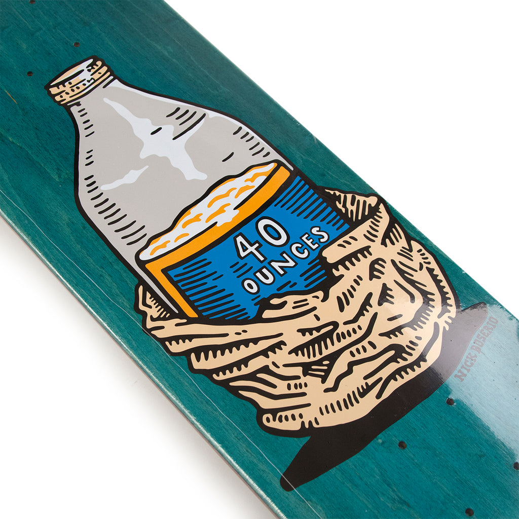 "Polar Skate Co Nick Boserio Forties Skateboard Deck in 8"" - Detail"