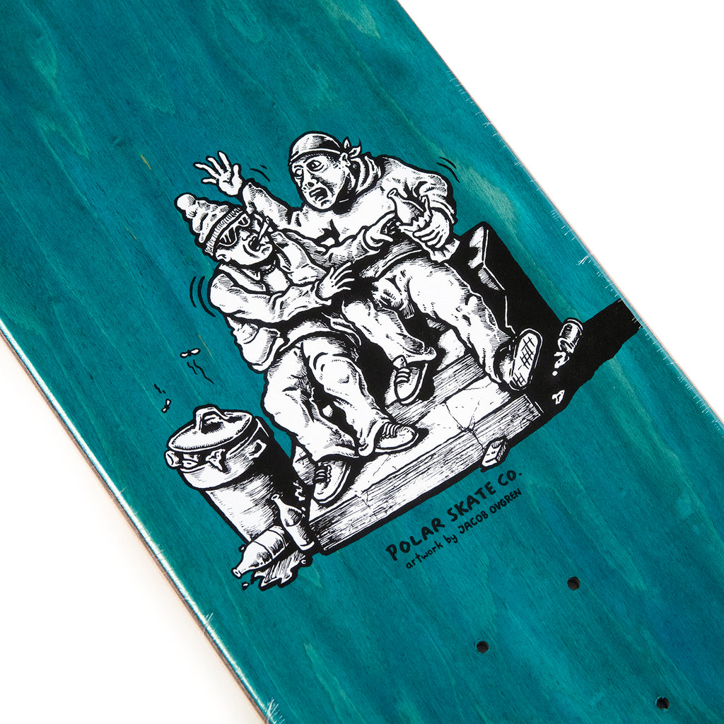 "Polar Skate Co Nick Boserio Forties Skateboard Deck in 8"" - Top graphic"