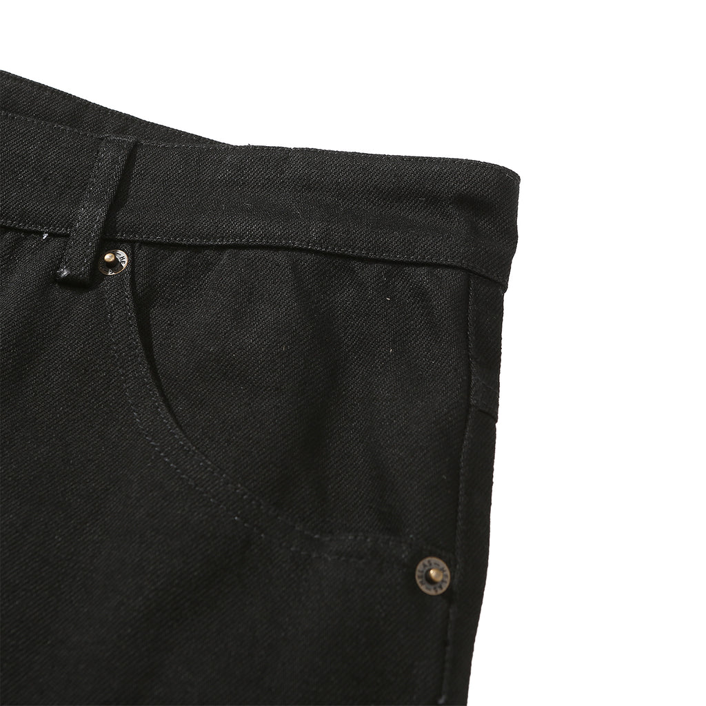 Helas Poppin Denim Pant in Black - Detail