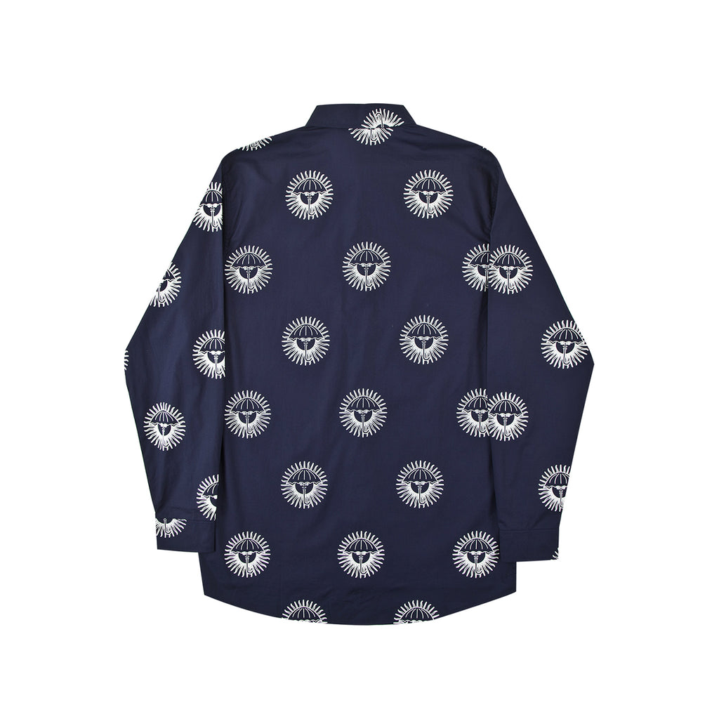 Helas Pyjamax Shirt in Navy - Back