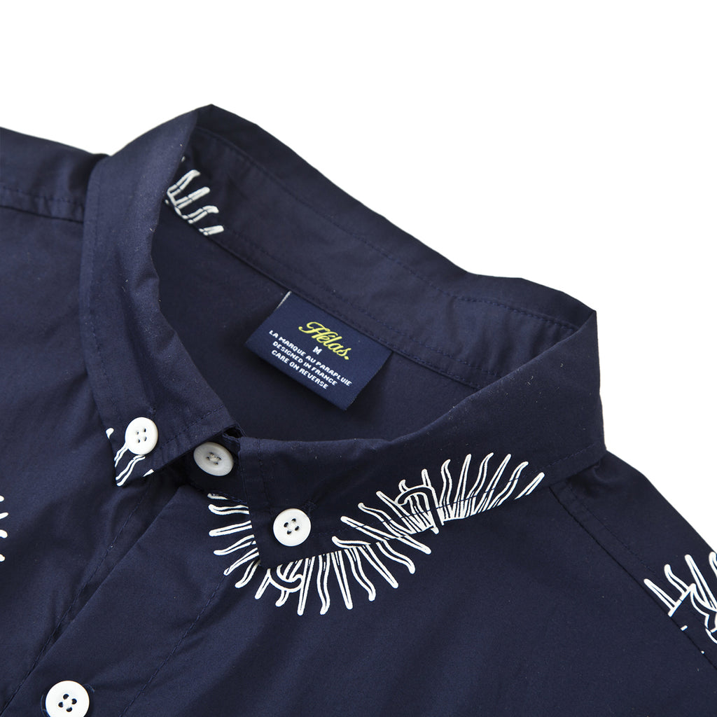 Helas Pyjamax Shirt in Navy - Collar