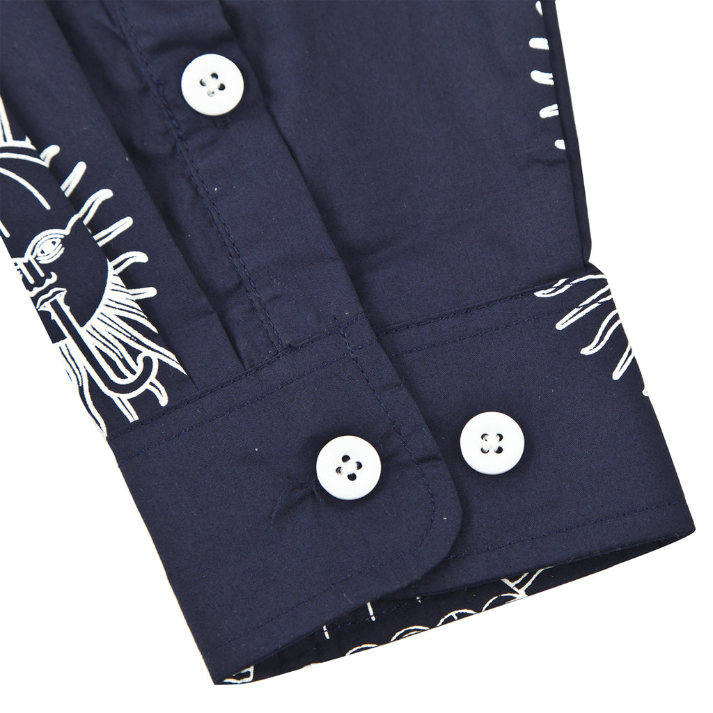 Helas Pyjamax Shirt in Navy - Cuff