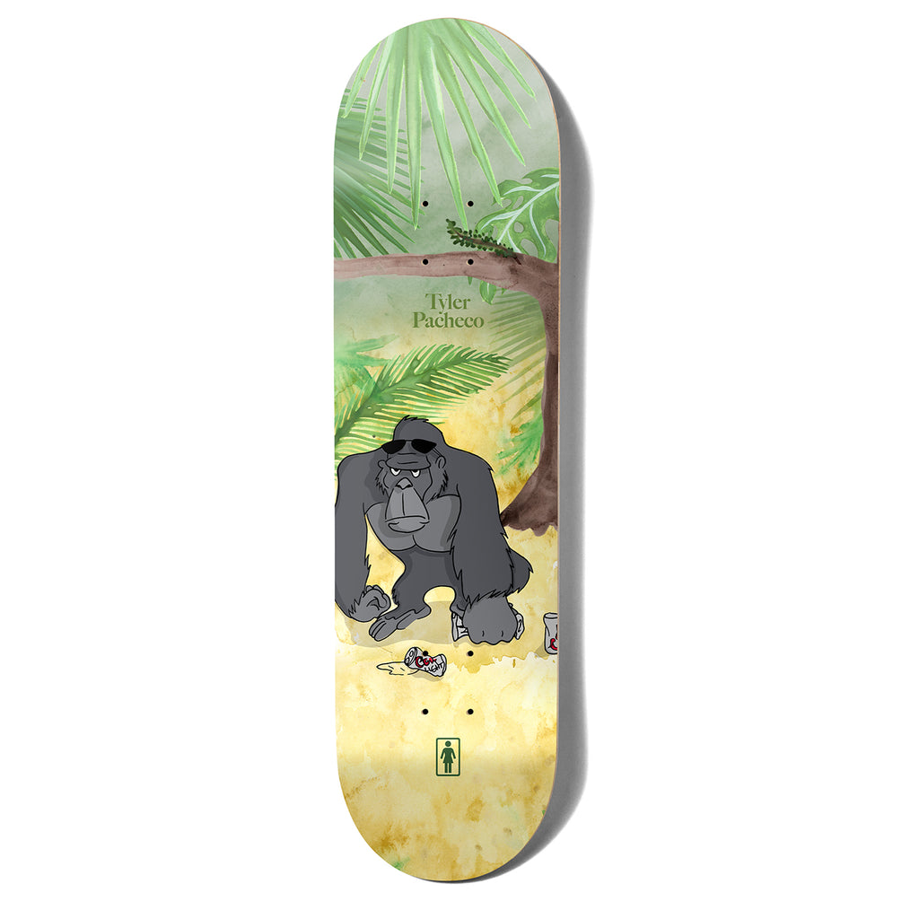 Girl Skateboards Tyler Pacheco One Off Jungle Beers Skateboard Deck in 8.375""
