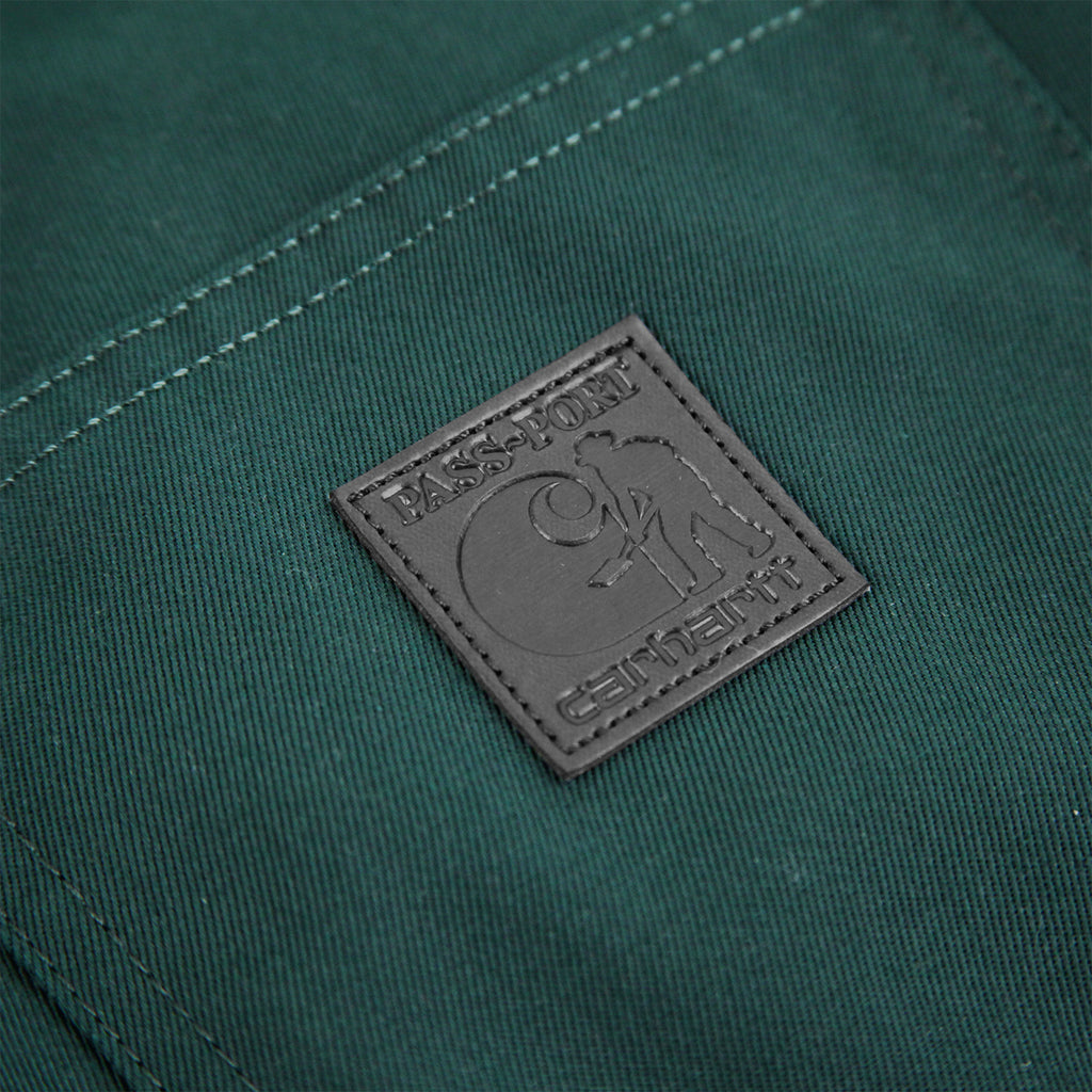 Carhartt WIP x Pass Port Pall Pant in Bottle Green - Label
