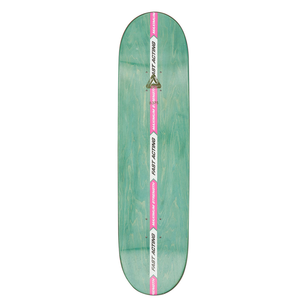 "Palace Tri-Gaine Skateboard Deck in 8.375"" - Top"