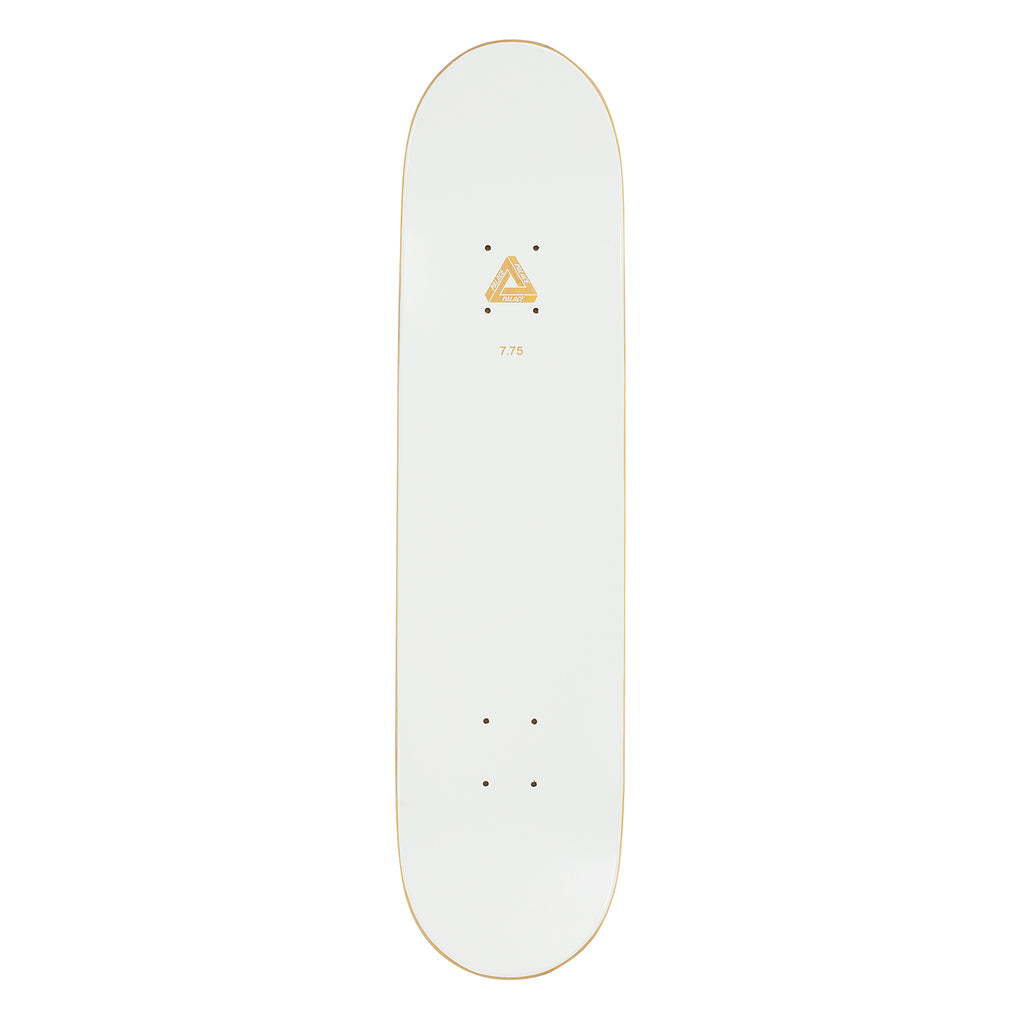 "Palace Banana White Skateboard Deck in 7.75"" - Top"